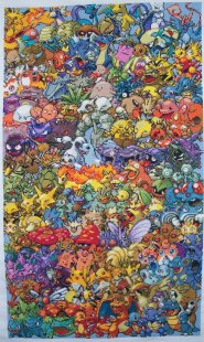 Epic Pokemon Cross-Stitch